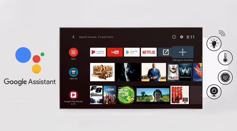 Android Tivi TCL 4K 75 inch L75A8 - Google Assistant