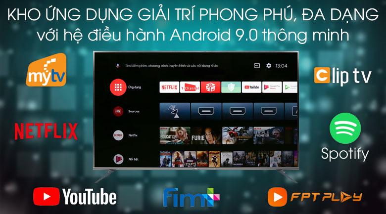 Android Tivi TCL 4K 75 inch L75A8 -  kho ứng dụng đa dạng phong phú