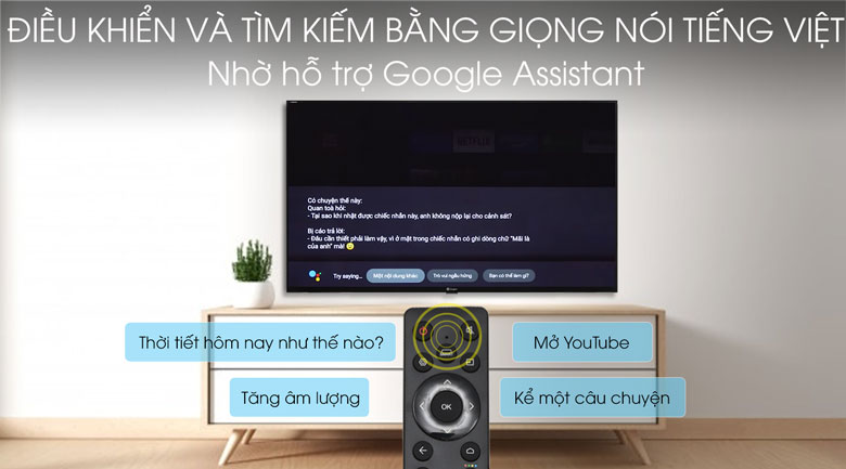Remote thông minh - Android Tivi Casper 43 inch 43FG5000