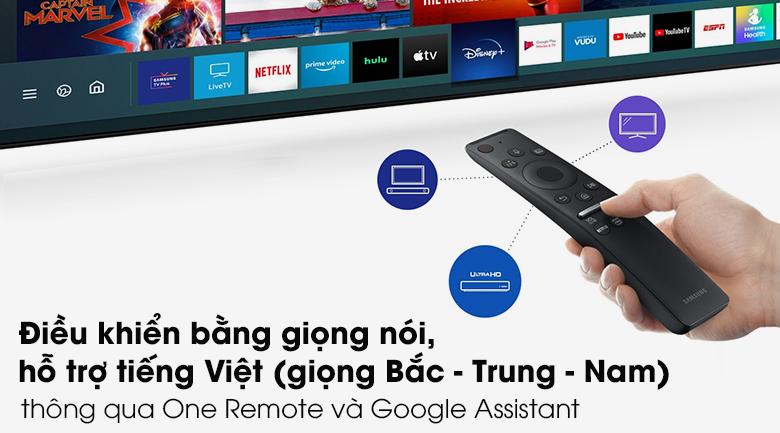 One Remote và Google Assistant - Tivi QLED Samsung QA43Q60T