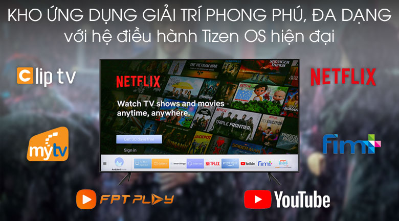 Tizen OS Smart Tivi QLED Samsung 4K 43 inch QA43Q60T