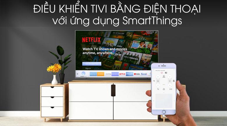 Smart Tivi QLED Samsung 4K 55 inch QA55Q60T - smartthing