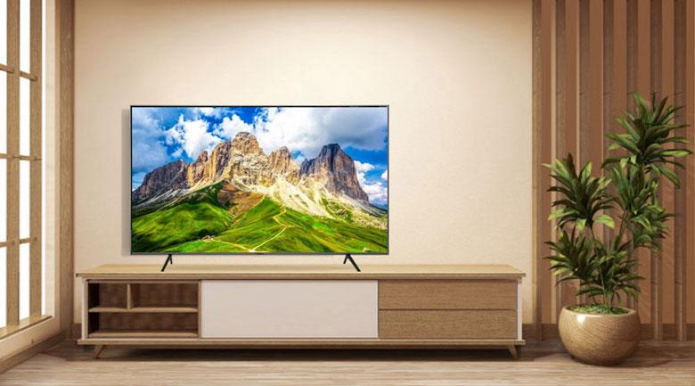 Smart Tivi QLED Samsung 4K 55 inch QA55Q60T - Chân đế chữ V ngược