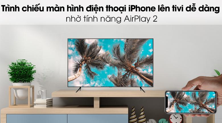 Smart Tivi QLED Samsung 4K 58 inch QA58Q60T - Chiếu màn hình iPhone qua AirPlay 2