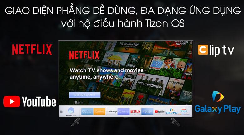 Smart Tivi QLED Samsung 4K 58 inch QA58Q60T - Hệ điều hành Tizen OS