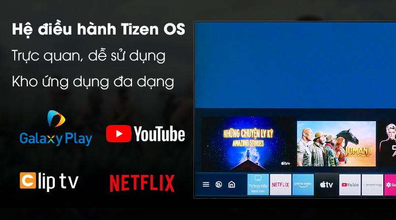 Hệ điều hành Tizen OS - Tivi QLED Samsung QA65Q60T