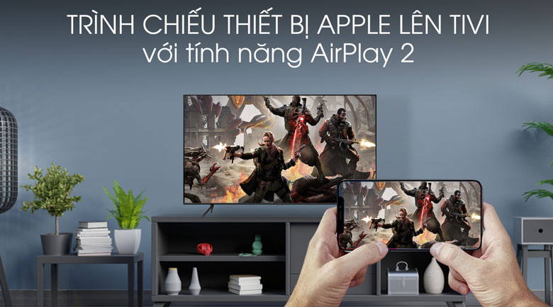AirPlay 2 TIVI QLED SAMSUNG QA75Q60T