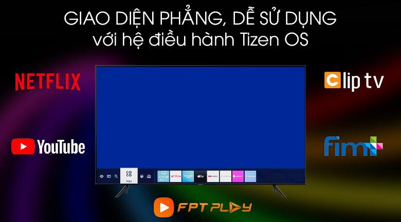 Hệ điều hành Tizen OS - Tivi QLED Samsung QA75Q60T