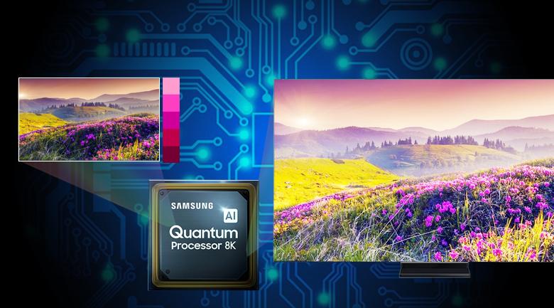 Tivi thông minh QLED Samsung 8K 65 inch QA65Q950TS - Bộ xử lý lượng tử 8K