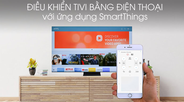 Smart Tivi QLED Samsung 8K 75 inch QA75Q950TS - SmartThings