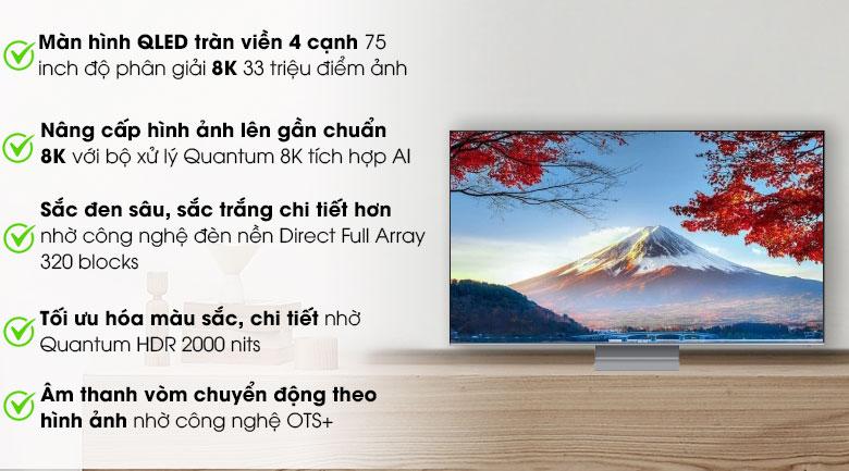 Smart Tivi QLED Samsung 8K 75 inch QA75Q800T
