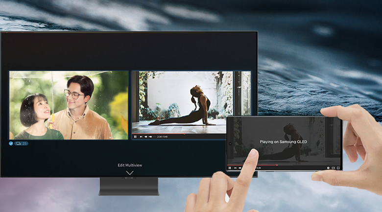 Smart Tivi QLED Samsung 4K 55 inch QA55Q95T - Multi View