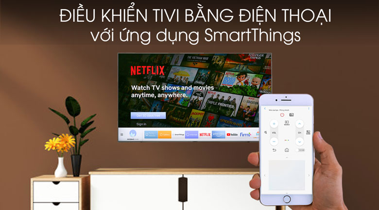 Smart Tivi QLED Samsung 4K 55 inch QA55Q95T - SmartThings