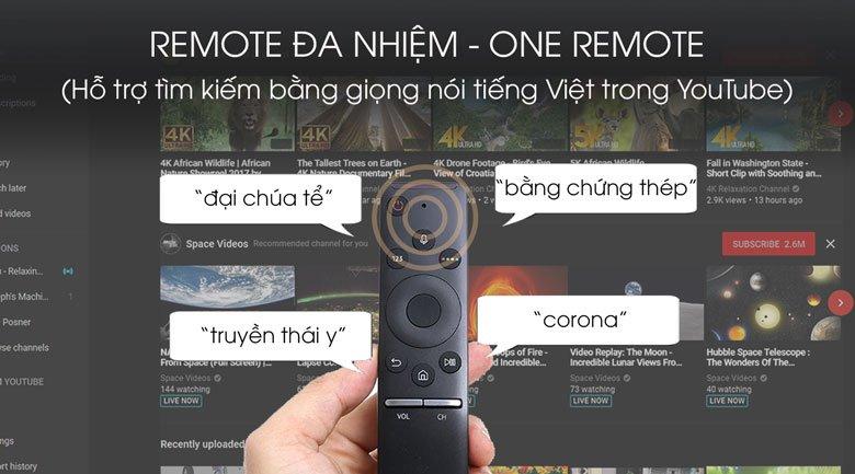 Remote-Smart Tivi QLED Samsung 4K 85 inch QA85Q80T