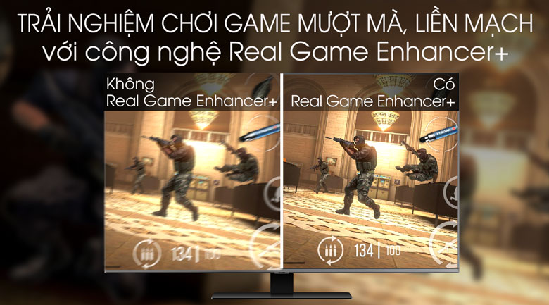 Real Game Enhancer+ - Smart Tivi QLED Samsung 4K 85 inch QA85Q80T