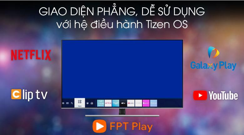 Hệ điều hành Tizen OS - TIVI QLED SAMSUNG QA75Q80T