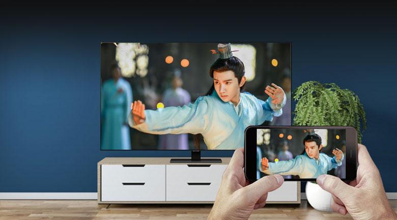 Chiếu màn hình - Smart Tivi QLED Samsung 4K 65 inch QA65Q80T