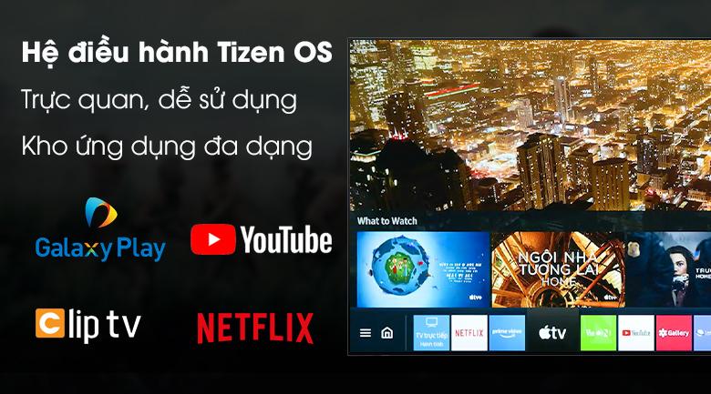 Hệ điều hành Tizen OS - Smart Tivi QLED Samsung 4K 55 inch QA55Q80T