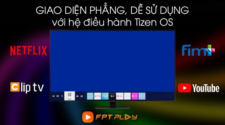 Hệ điều hành Tizen OS - Tivi QLED Samsung QA55Q80T