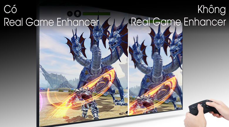 Công nghệ Real Game Enhancer - Smart Tivi QLED Samsung 4K 49 inch QA49Q80T