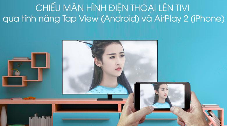 Chiếu màn hình - Smart Tivi QLED Samsung 4K 49 inch QA49Q80T