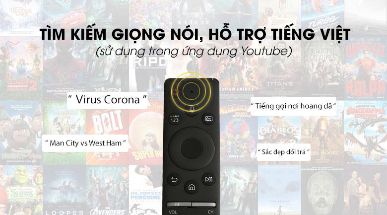 One remote-Smart Tivi Samsung 4K 65 inch UA65TU8100
