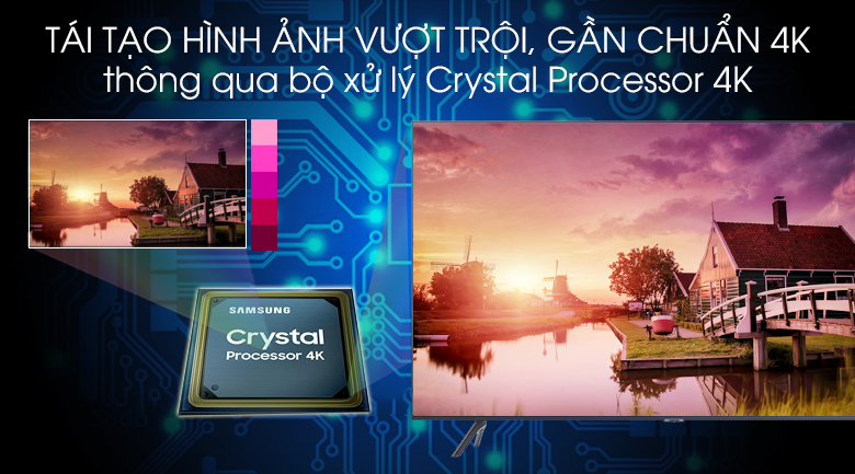 Crystal Processor 4K - Smart Tivi Samsung 4K 65 inch UA65TU8100