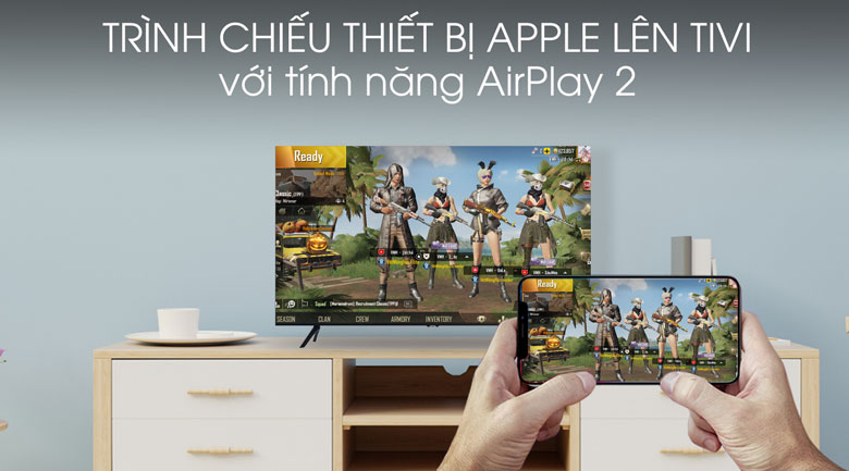 Airplay 2 - Smart Tivi Samsung 4K 55 inch UA55TU8100