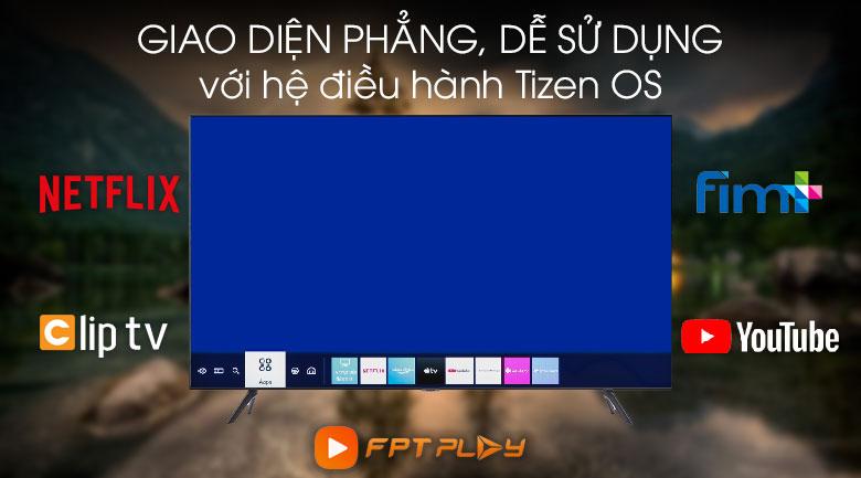 Hệ điều hành Tizen OS - Tivi LED Samsung UA55TU8100
