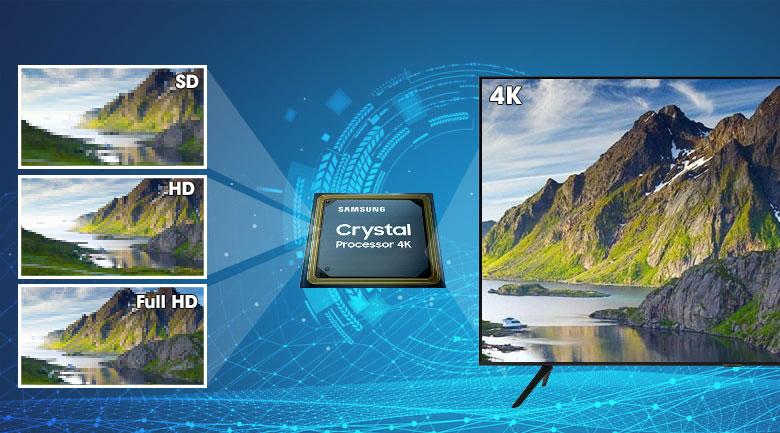 crystal-Smart Tivi Samsung 4K 50 inch UA50TU8100