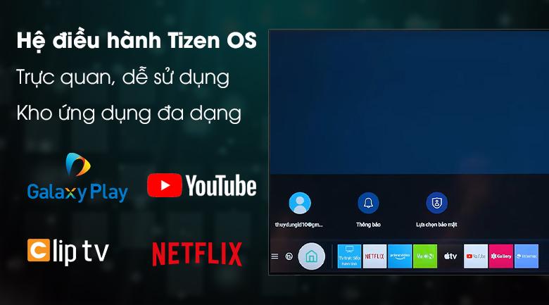Hệ điều hành Tizen OS - Tivi LED Samsung UA50TU8100