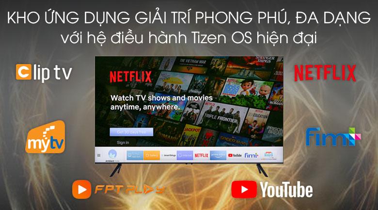 Tizen OS - Smart Tivi Samsung 4K 43 inch UA43TU8100