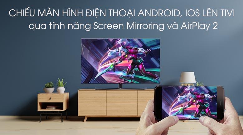 Smart Tivi Samsung 4K 43 inch UA43TU8500 - Trình chiếu màn hình điện thoại lên tivi