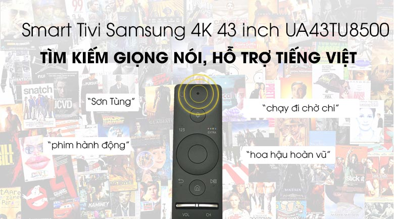 Smart Tivi Samsung 4K 43 inch UA43TU8500 - One Remote