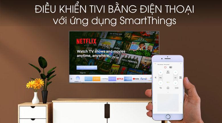 Smart Tivi Samsung 4K 43 inch UA43TU8500 - Chiếu màn hình điện thoại lên tivi qua ứng dụng SmartThings