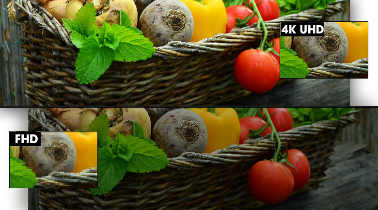 Smart Tivi Samsung 4K 50 inch UA50TU8500 - Độ phân giải Ultra HD 4K