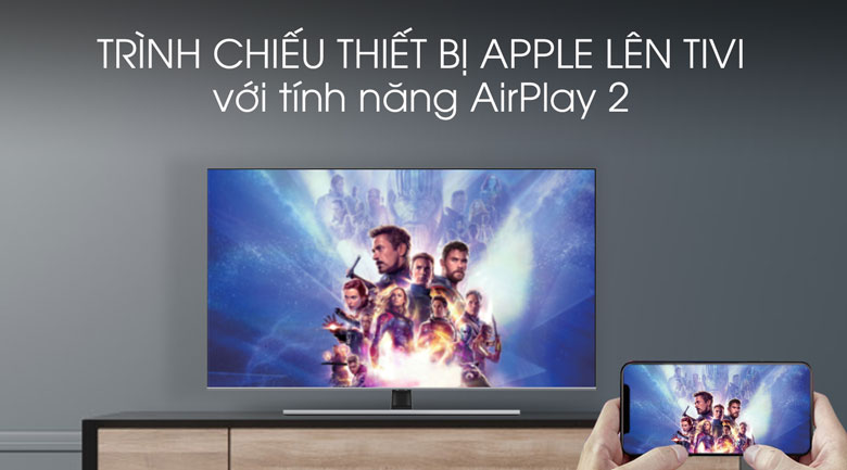 Airplay-Smart Tivi QLED Samsung 4K 85 inch QA85Q70T