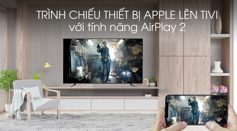 Airplay 2-Smart Tivi QLED Samsung 4K 85 inch QA85Q70T