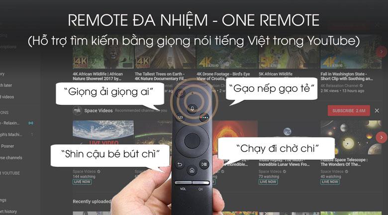 One remote-Smart Tivi QLED Samsung 4K 85 inch QA85Q70T