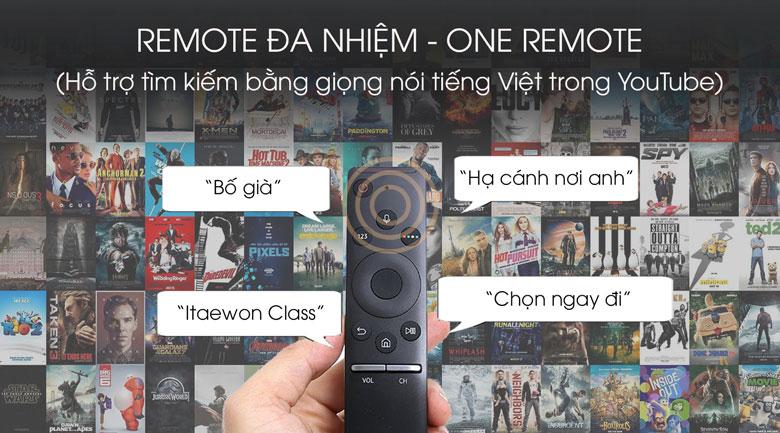 One remote-Smart Tivi QLED Samsung 4K 75 inch QA75Q70T