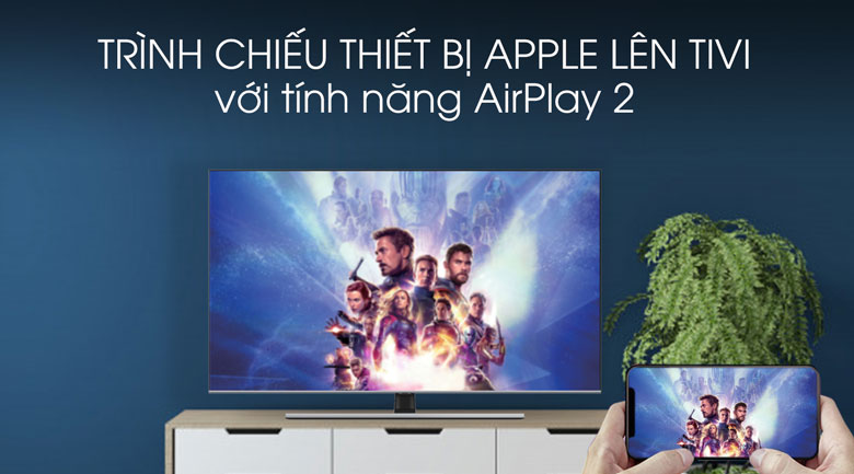 Airplay-Smart Tivi QLED Samsung 4K 75 inch QA75Q70T