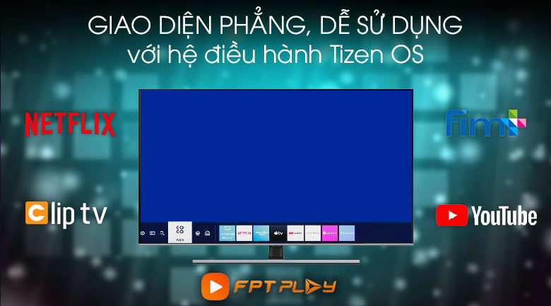 Tizen OS-Smart Tivi QLED Samsung 4K 65 inch QA65Q70T