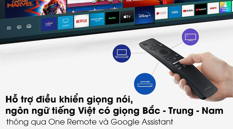 Remote-Smart Tivi QLED Samsung 4K 65 inch QA65Q70T