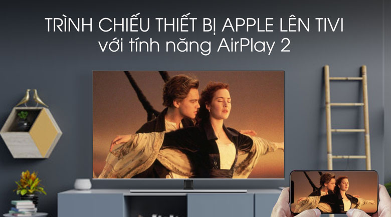 Airplay-Smart Tivi QLED Samsung 4K 65 inch QA65Q70T
