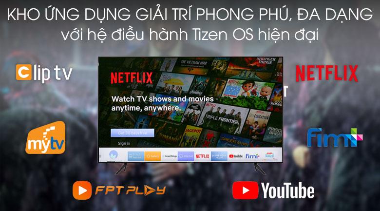 Tizen OS-Smart Tivi QLED Samsung 4K 55 inch QA55Q70T
