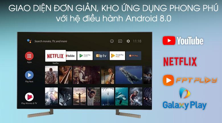 Hệ điều hành-Android Tivi Sony 4K 49 inch KD-49X9000F