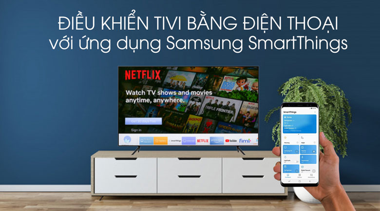 SmartThing-Smart Tivi QLED Samsung 4K 55 inch QA55Q70T