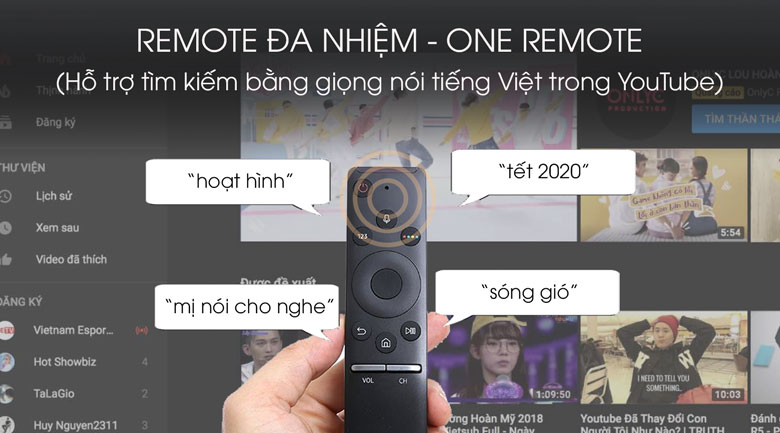 One Remote - Tivi Led Samsung UA65TU7000