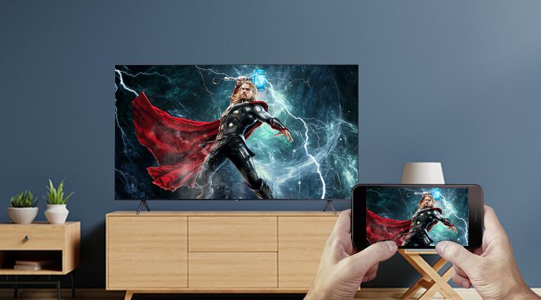 Smart Tivi Samsung 4K 50 inch UA50TU7000 - Chiếu màn hình điện thoại