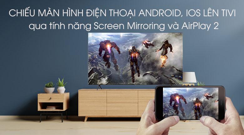 Smart Tivi Samsung 4K 43 inch UA43TU7000 - Chiếu màn hình